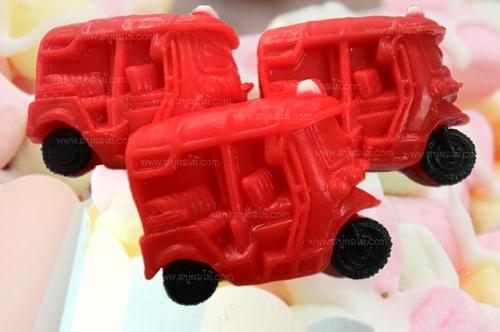 008-0001 รถตุ๊กตุ๊กสีแดง