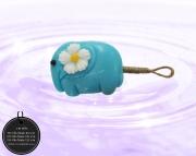 003-0040 ช้างติดดอกไม้สีฟ้า